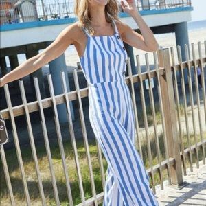 C&C California Women's stripe jumpsuit